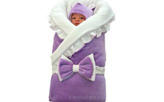 Как запеленать новорожденного в одеяло?