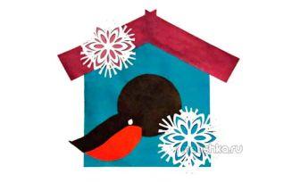 Аппликация из цветной бумаги на тему зима: поэтапная инструкция с фото