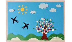 Аппликация на тему Весна из цветной бумаги: поэтапная инструкция с фото