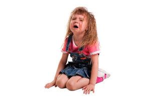 Причины постоянных истерик ребенка в 3 года