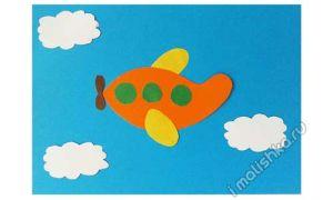 Аппликация Самолет из цветной бумаги: поэтапная инструкция с фото