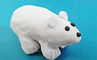 Как слепить белого медведя из пластилина: поэтапная инструкция с фото