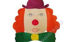 Аппликация Клоун из цветной бумаги
