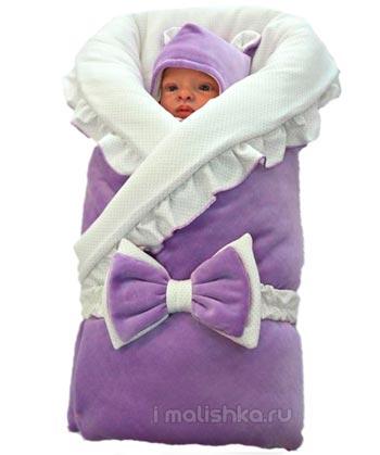 Как пеленать новорожденного в одеяло?