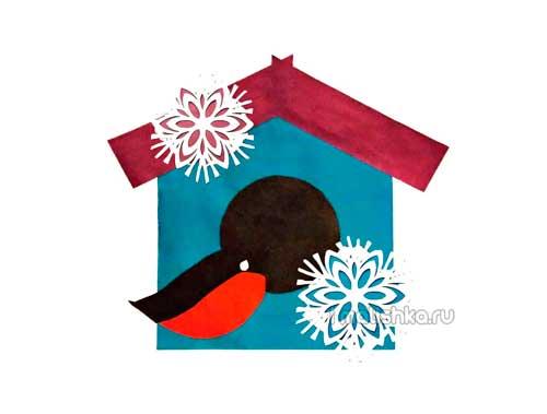 ПЛАНИРОВАНИЕ БЕРЕМЕННОСТЬ РОДЫ НОВОРОЖДЕННЫЙ ДЕТКИ Аппликация из цветной бумаги на тему зима