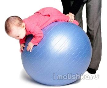 Гимнастика на фитболе для грудничков