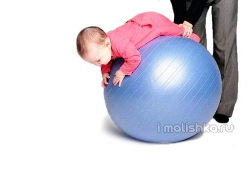 Гимнастика на фитболе для грудничков: упражнения