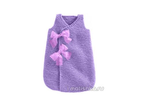 Спальный мешок для новорожденных вяжем крючком